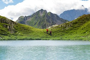 Backpackers in Switzerland