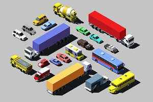 Road cars, trucks and vehicles