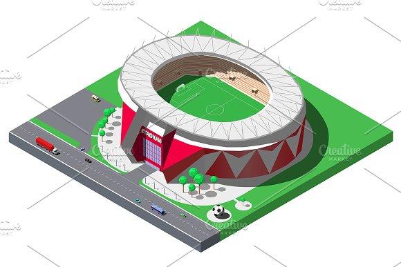 Vector Isometric Football Stadium