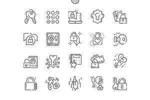 Keys and Locks Line Icons