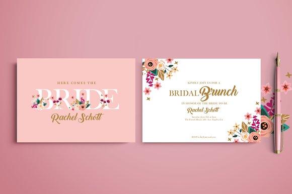bridal brunch invitation invitation templates creative market