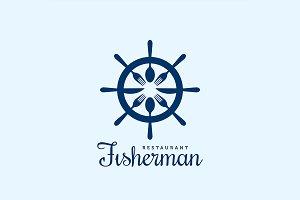 Seafood Fisherman Restaurant Logo.