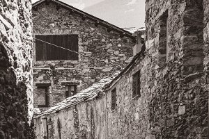 Traditional houses of the Pyrenees