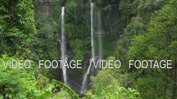 Beautiful Tropical Waterfall Bali Indonesia Cinemagraph