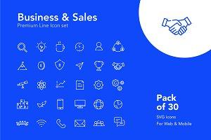 30 Premium Business Icons