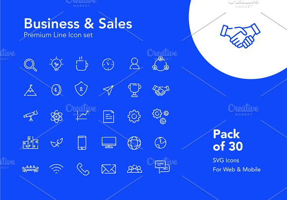30 Premium Business Icons