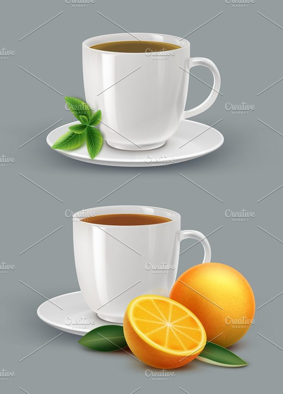 Cup Of Tea With Mint And Citrus