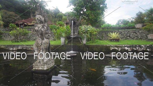 Tirta Gangga On Bali Hindu Temple