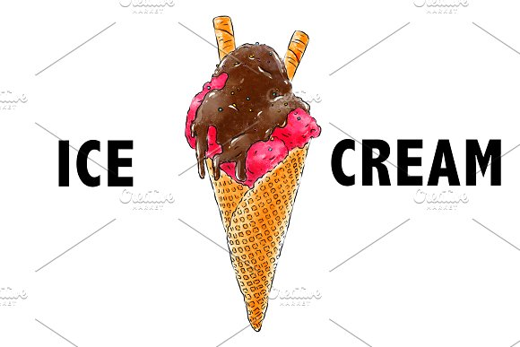 Hand-drawn Ice Cream