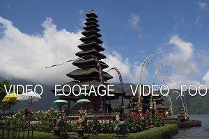 Hindu temple on the island of Bali. Pura Ulun Danu Bratan. Cinemagraph