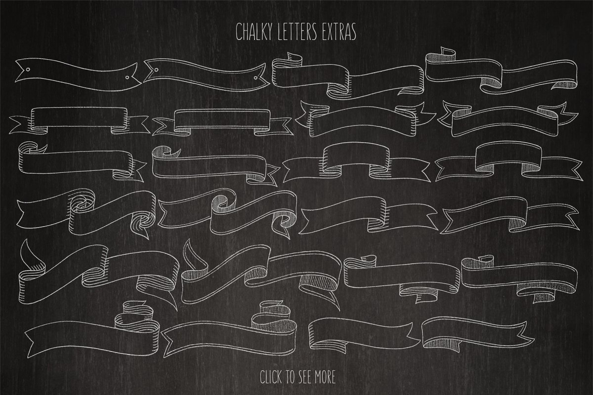 Chalky Letters font collection in Lettering Fonts - product preview 3