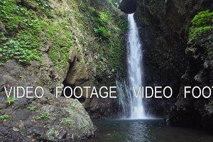 Beautiful tropical waterfall. Bali,Indonesia. Cinemagraph