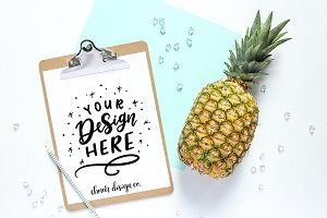 Clipboard Pineapple Mockup