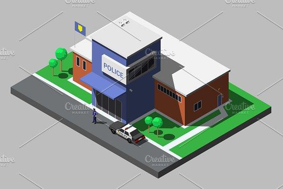 Vector Isometric Police Department