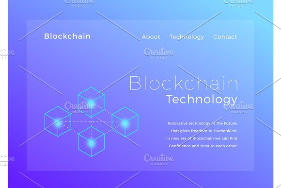 Blockchain Crypto Technology Blockchain Concept Isometric Vector Illustration Landing Page Design