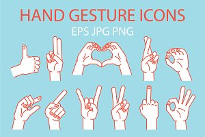 Hand Gesture Icons.