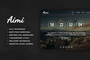 Aimi - Responsive Coming Soon