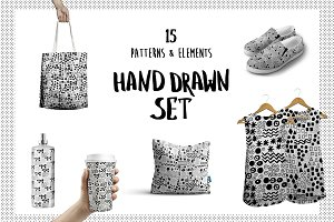 Hand Drawn B&W Pattern Collection