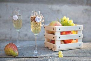 wedding celebration champagne glasses