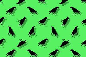 Birds Silhouette Seamless Pattern