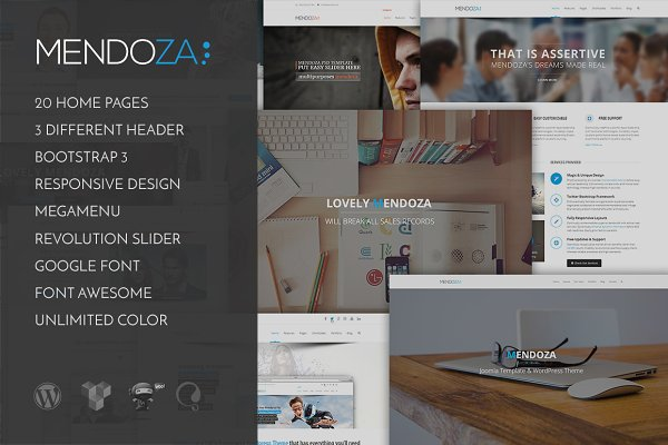 WordPress Business Themes: TemPlaza - Mendoza - Business WordPress Theme