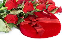Perfect Valentines red roses