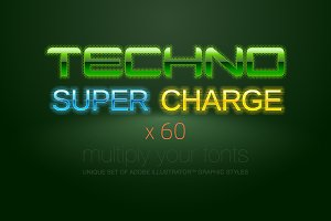 AI CS5 graphic styles Techno
