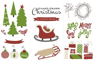 Hand Drawn Christmas|Vector