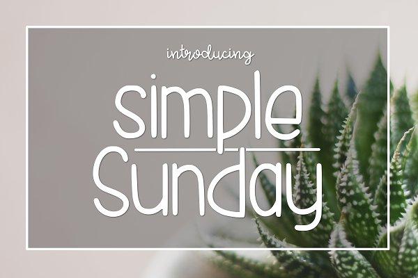 Simple Sunday