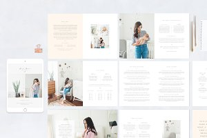 Newborn Magazine Template Design