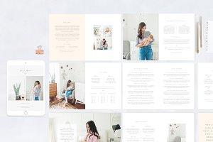 Newborn Magazine Template Design