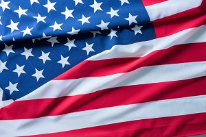 USA flag for background.