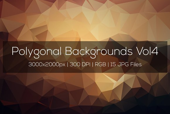 Polygonal Backgrounds Vol4