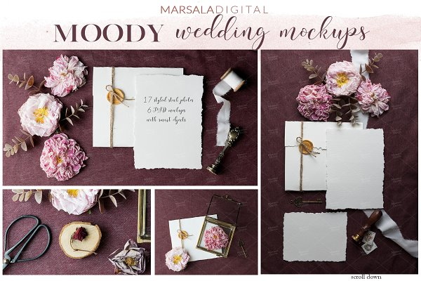 Moody Wedding Suite Mockups