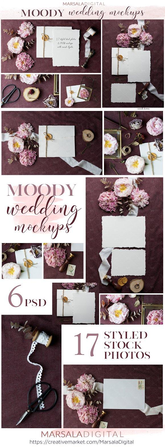 Moody Wedding Suite Mockups