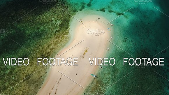 Aerial View Beautiful Beach On Tropical Island Siargao Island Philippines
