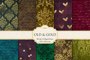 Damask & Gold Digital Paper