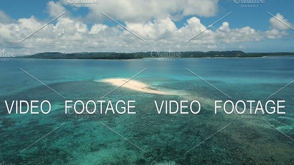 Aerial View Beautiful Beach On Tropical Island Siargao Island Philippines