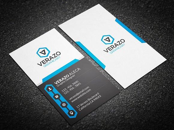 creative vertical business card business card templates creative market. Black Bedroom Furniture Sets. Home Design Ideas