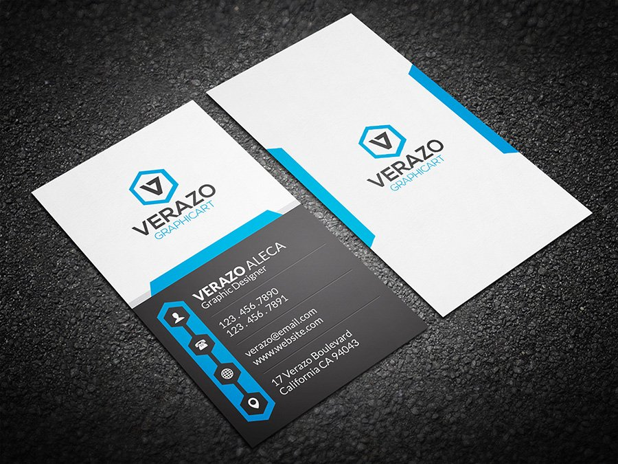 Creative Vertical Business Card ~ Business Card Templates ...