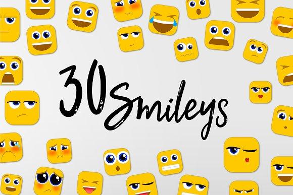 30 Smileys Emoji Icons