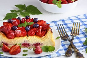 Cheesecake of cottage cheese