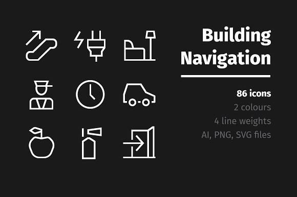 86 Building Navigation Signs