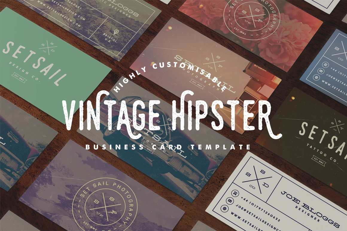 Vintage business card template business card templates creative vintage business card template business card templates creative market reheart Images