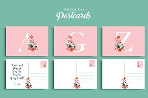 Monogram Postcards