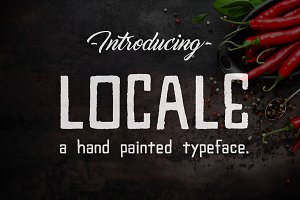 Locale - A Hand Painted Typeface