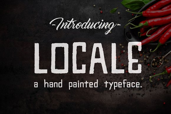 Locale A Hand Painted Typeface