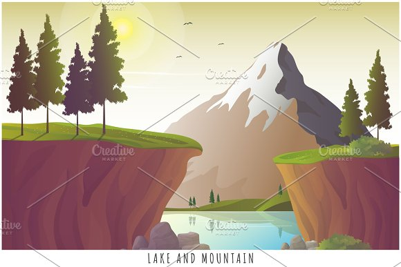 Lake And Mountain Landscape