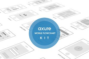 Mobile Axure Flowchart kit