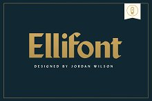 Ellifont by Jordan Wilson in Serif Fonts